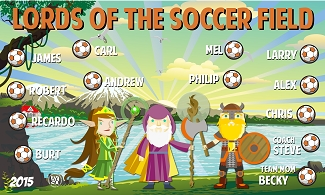 B1625 Lords of the Soccer Field 3x5 Banner