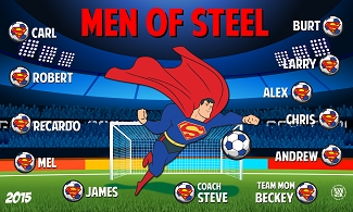 B1546 Men of Steel Superhero 3x5 Banner