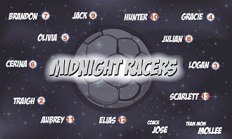 B1856 Midnight Racers 3x5 Banner