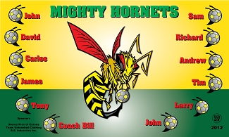 B1565 Mighty Hornets 3x5 Banner