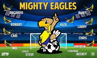 B1858 Mighty Kids Eagles 3x5 Banner