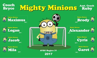 B2088 Mighty Minions 3x5 Banner