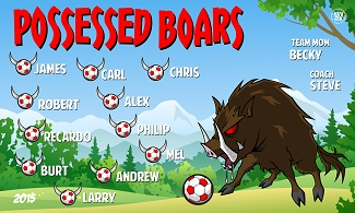 B1657 Possessed Boars 3x5 Banner