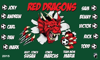 B1592 Red Dragons 3x5 Banner