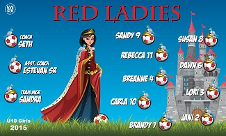 B1596 Red Ladies 3x5 Banner