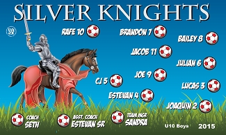 B1635 Silver Knights 3x5 Banner