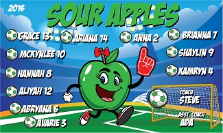 B1857 Sour Apples 3x5 Banner