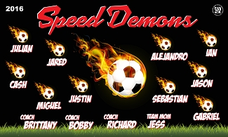 B1739 Speed Demons 3x5 Banner