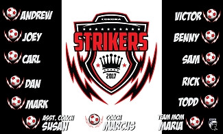 B1864 Strikers Bolts 3x5 Banner