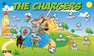 B1670 The Chargers 3x5 Banner