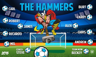 B1541 The Hammers 3x5 Banner