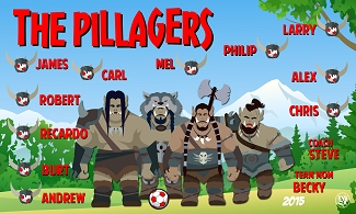 B1637 The Pillagers 3x5 Banner