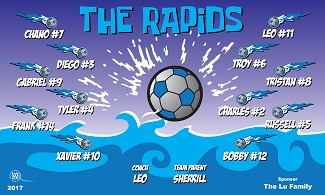 B2100 The Rapids 3x5 Banner