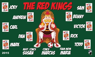 B1597 The Red Kings 3x5 Banner