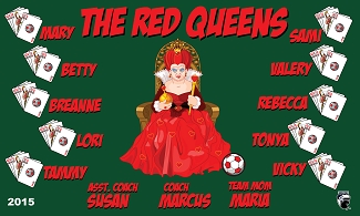 B1598 The Red Queens 3x5 Banner