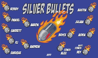 B2020 Silver Bullets 3x5 Banner