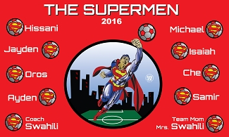 B1545 The Supermen 3x5 Banner