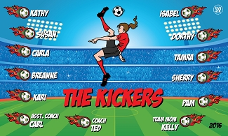B1537 The Kickers 3x5 Banner