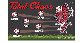 B1800 Total Chaos 3x5 Banner