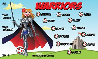 B2053 Warriors 3x5 Banner