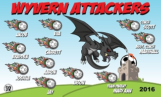 B1655 Wyvern Attackers 3x5 Banner
