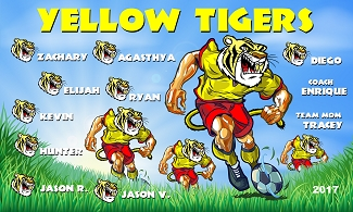 B2085 Yellow Tigers 3x5 Banner