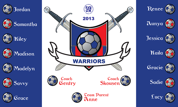 B1230 The Warriors 3x5 Banner