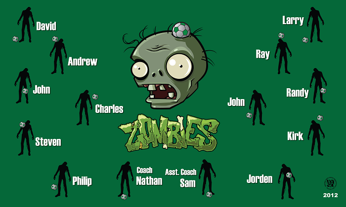 B1245 Zombies 3x5 Banner