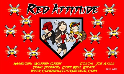 B4215 Red Attitude 3x5 Banner