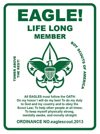 "Eagle Scout 18""x24"" Metal Sign"