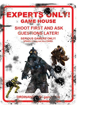 "Experts Only 9""x12"" Metal Sign"