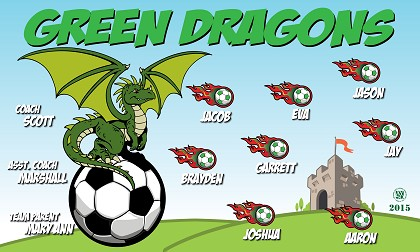 Green Dragons Banners Village Banners