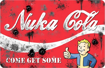 "Nuka Cola 8""x12"" Metal Sign"
