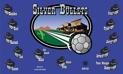 B1212 The Silver Bullets 3x5 Banner