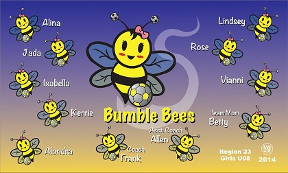 B1026 Bumble Bees 3x5 Banner