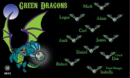 Green Dragons Banners Library Banners