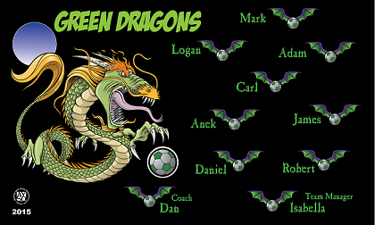 Green Dragons Banners Turf Banners