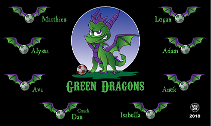 Green Dragons Banners Branding Service Banners