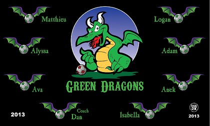 Green Dragons Banners Mid Season Sale Banners