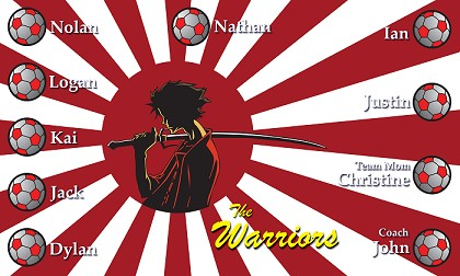 B1100 Japan The Warriors 3x5 Banner