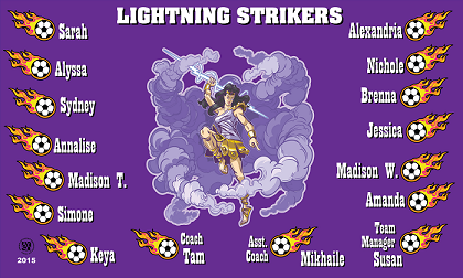 B1498 Lightning Strikers 3x5 Banner