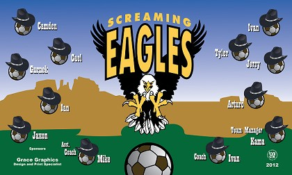 B1166 Screaming Eagles 3x5 Banner