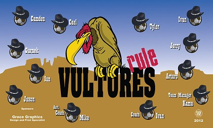 B1228 Vultures Rule 3x5 Banner