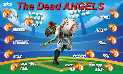 B1378 The Dead Angels 3x5 Banner